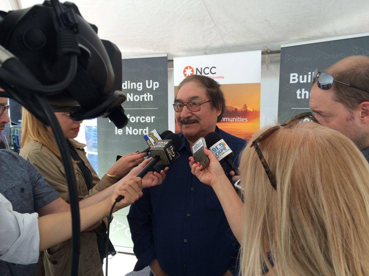 Chief Joseph Crowe talks to the media
