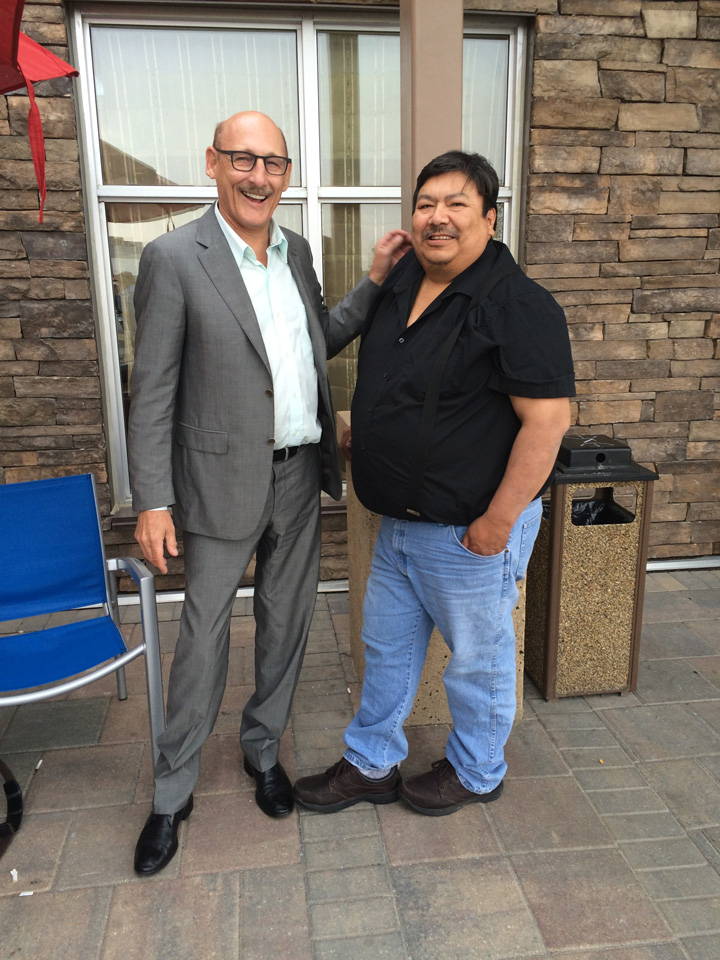 David Arenburg, Senior Advisor, Canadian Solar and Chief Chris Kakegamic of Keewaywin First Nation