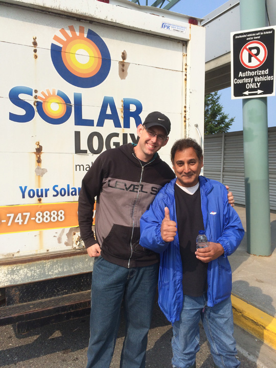 John of Solar Logix and Tony of DAI getting ready to leave Thunder Bay for McDowell Lake