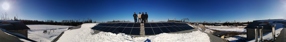 Joel McKay and Kyle Harper from Keewaywin and Francisco Carlos and Marc Reeve-Newson from Toronto