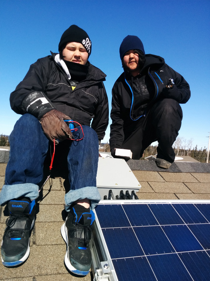 L to R: Joel McKay and Kyle Harper, Keewaywin